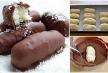 σοκολατακια με γεμιση ινδοκαρυδο