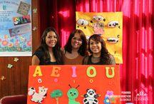 Exposición de Materiales Didácticos / La exposición fue presentada por alumnas de la Lic. en Pedagogía apoyada por la Profesora Brenda Becerra, donde utilizaron como base materiales reciclados.