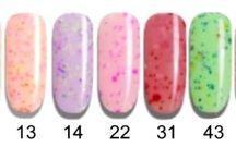 "Q1T Professional UV nail polish- ""Ice cream"" colours"