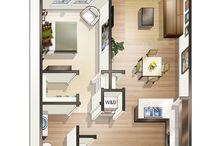 Spacious Floor Plans / Our four-story building has 72 one-bedroom units, 56 two-bedroom units and 16 three-bedroom units ranging in size from about 675 square feet to 1,265 square feet.