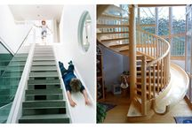 Staircase slides / Just pictures of staircases with slides built in