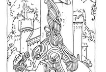 COLORING PAGES - ART