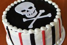 Logan skeleton cake