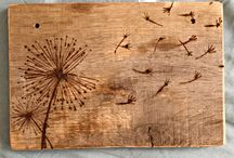 Wood burning / decorations