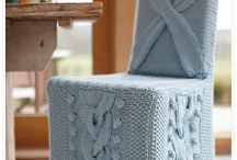 Knitted chair covers