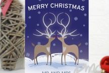 Reindeer Couple / When you think of a festive animal, the first one that comes into mind is a Reindeer! A lovely range that is ideal for the lovely couples at Christmas.