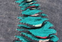 knit texture and close up pattern