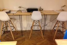 Bureaux / Des bureaux et consoles au design scandinave avec nos pieds en épingles fait main à l'atelier Ripaton.  Hairpin legs disponible sur notre site internet ripaton.fr à partir de 18€.