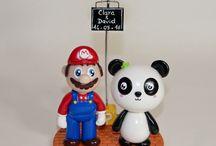 Figurines de mariage personnalisées (Geek) / Quelques exemples de figurines personnalisées, réalisées sur mesure d'après photos et/ou descriptif