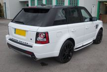 Customised Range Rover Sport / We took this 2005 Range Rover Sport and give it a few modification's to resemble a mean looking and newer model