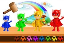 Kids Learning Color Cartoon