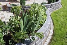 2) Concrete stones, rocks, garden paths, gravel
