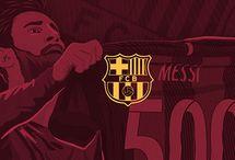 Lionel Messi 500 goals with FC Barcelona tribute Illustration.