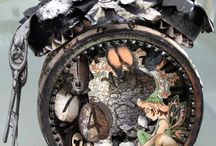 assemblage clock / by Tim Holtz