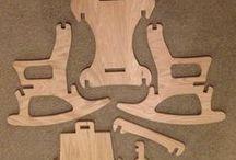 Кресло-качалка в разборе