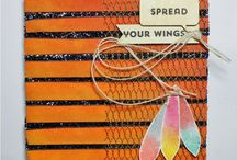 MMMC #5 - October 2014 / Mixed Media Monthly Challenge Design Team Projects for MMMC #5 Theme - Ribbons, Twine and Fibers