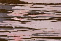 lino prints the sea