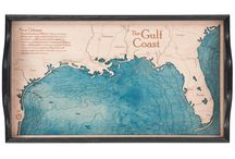 Mississippi Trays / 2 dimensional serving trays made from one piece of wood.