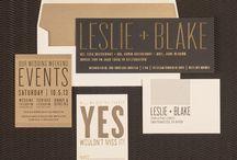 Letterpress wedding stuff