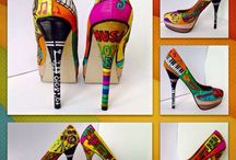 Bespoke Hand Painted Shoes by Bobbi Bicker. / Some of my bespoke handpainted shoes. One of a kind shoes, personalized. I love the combination of my addiction for shoes and passion for Art, is the best feeling ever, so I put a lot of thought and love in each pair I paint. I take commissions, so if you like more info please get in touch via my facebookpage: ValbonaBickerArtUK, follow me on Instagram and Twitter #BobbiBicker.