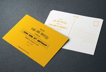 Birthday Invitation Postcard(yellow)