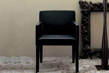 Contemporary Modern New Black Leather Mafia Chair/Armchair.