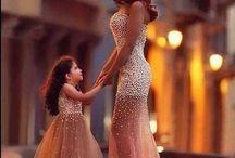 matching bride & flowergirl
