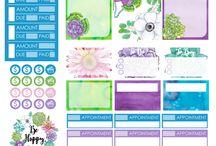 Planner stickers <3 :)