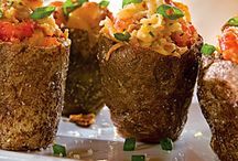 Crawfish yabbies / Stuffed potatoes