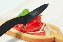 """Savvylings """"NanoRazor"""" 6 inch Black Ceramic chef knife / A new kind of ceramic knife gives you high precision cut with unmatched strength and durability.  It will become one of your favorite cultlery in the kitchen."""