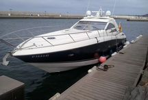 Sunseeker Portofino 53' / Luxury Yacht. Sunseeker 53 feets in Marina Rubicón - Playa Blanca (Lanzarote). Rent with skipper and crew.