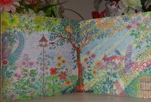 Johanna Basford colouring books / colouring done by Louise Wooldridge