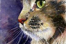 Chats aquarelle