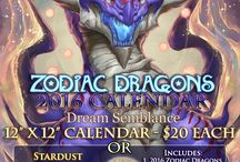 2016 Zodiac Dragons / 2016 Zodiac Dragons Calendar Artwork!