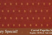 Monthly fabric specials