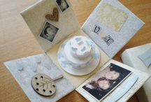 personalised box cards- wedding / Send your wishes to the couple to be with a special box card created just for them!