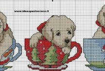 Cross Stitch - Dogs