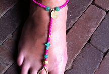 Hippie chique voetsieraad Ibiza style / Draag het met een basic slipper voor hip effect