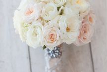 Wedding flowers / White and pale pink flower ideas for my wedding