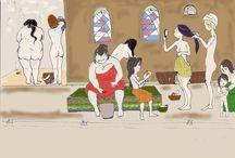 Femmes au bain / Au hammam on s'y lave et pas que...