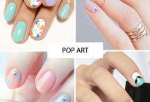 Negative space manicure / Nail design