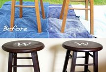 Painting bar stools