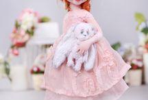 Будуарная кукла / Смешанная техника (текстиль и лепка):фото, выкройки