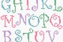 Cross stich letters