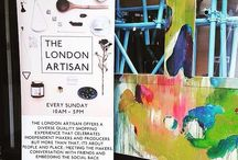 The London Artisan / Posters and banners from the event