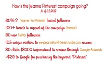 PINTEREST | for Jeanne! / Is it possible to PIN SOMEONE?? Whatever you see that reminds you of me, Pin it. Yea, we're pin it to win it. #JeanneforPinterest