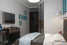 Декор маленькая спальня
