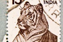 Vintage Indian Stamps