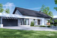HomeKONCEPT 45 G2 | Projekt domu / Projekt domu HomeKONCEPT 45 G2 to wersja z garażem 2-stanowiskowym interesującego domu parterowego HomeKONCEPT 45.