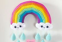 Crochet rainbows